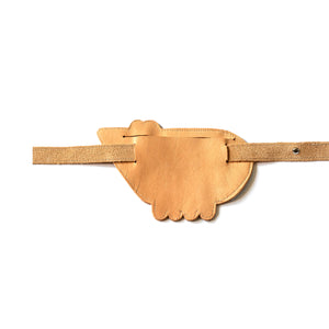 Eperfa leather belt bag bear, natural, rear side