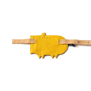Eperfa leather belt bag pig yellow, rear side