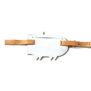Eperfa leather belt bag pig white, rear side