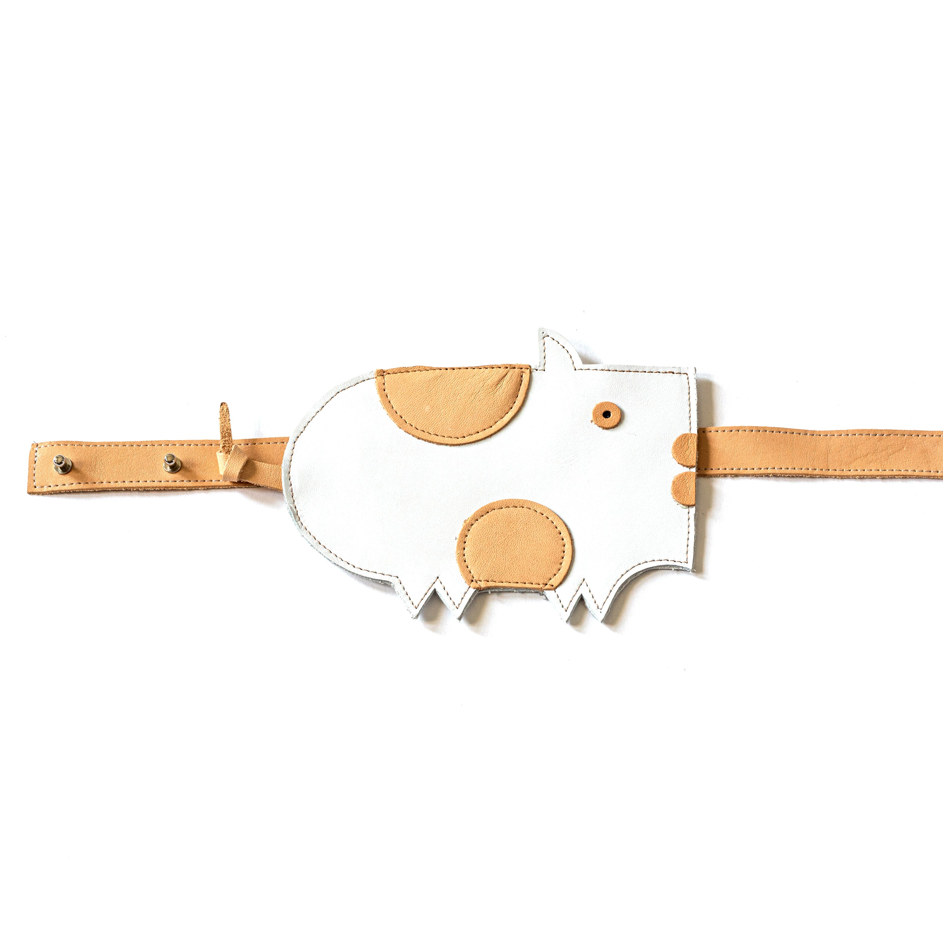 Eperfa leather belt bag pig white