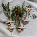 Hillside birds ornaments