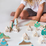 Child playing with Eperfa wooden Balaton Uplands building blocks