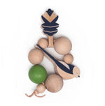 Eperfa wooden teether long-tailed tit, oak