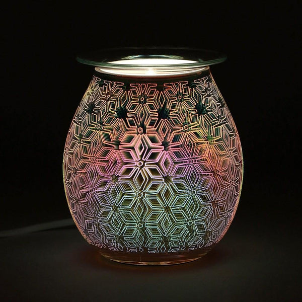 3D Geometric Flower Light Up Electric Oil Burner Oil Burners Something Different