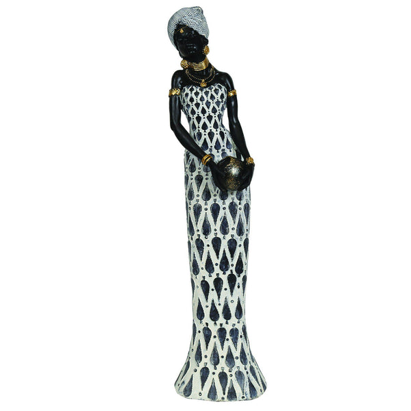 African Lady Figurine HomeDecor Straits