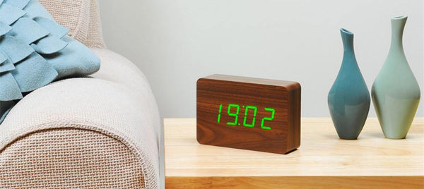 Brick Click Clock Clocks Gingko