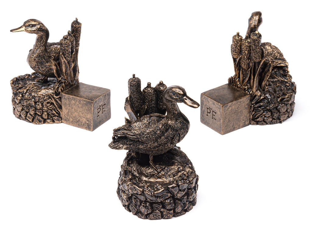 Bronze Mallard Duck Planter Accessories Potty Feet