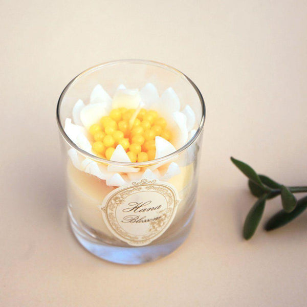 Chrysanthemum Scented Container Candle - Eastern Spice Candles Hana Blossom