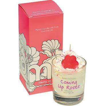 Coming Up Roses piped Glass Candle Candles Bomb Cosmetics