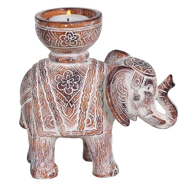 Elephant Tealight Holder HomeDecor Straits