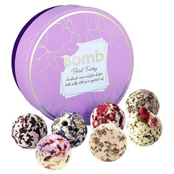 Floral Fantasy Bath Creamer Gift Pack Candles Bomb Cosmetics