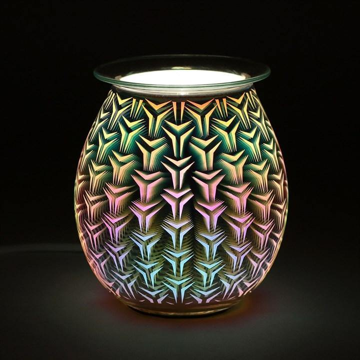 Geometric Light Up Electric Oil Burner Oil Burners Something Different