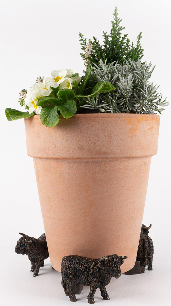 Highland Cow Planter Accessories Potty Feet