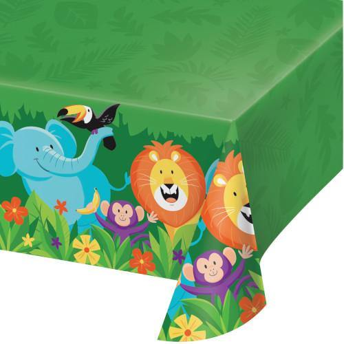 Jungle Safari Plastic Tablecover All Over Print Jungle Safari Creative Party