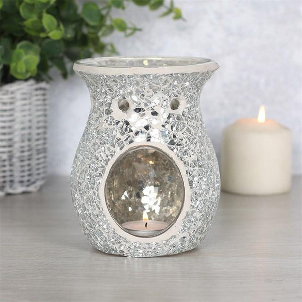 Large Silver Crackle Oil Burner Oil Burners Something Different