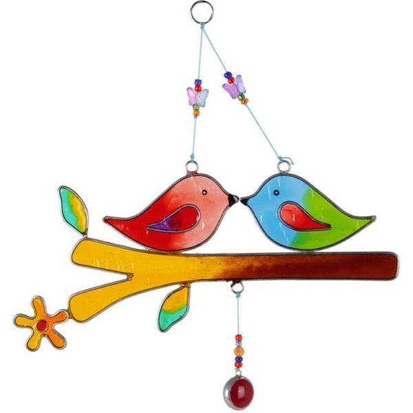Love Birds On A Branch Suncatcher Suncatcher Something Different