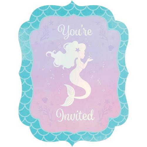 Mermaid Shine Invitation Postcard Party Decorations Creative Party