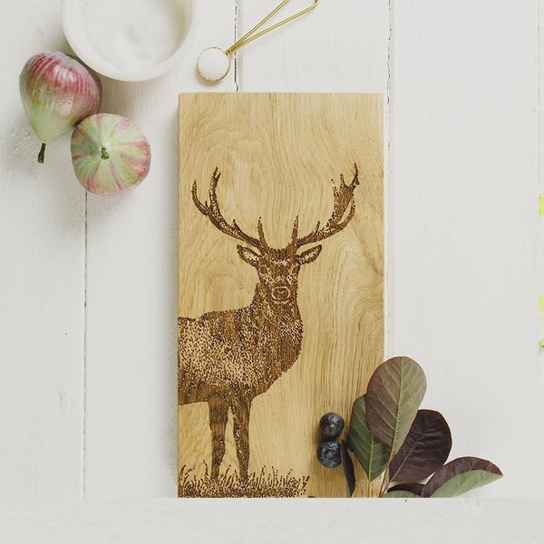 Monarch Stag Small Serving Board Tableware Selbrae House