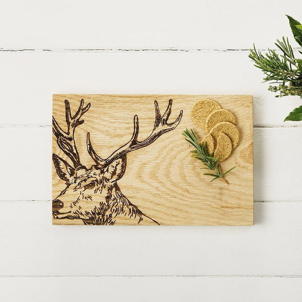 Oak Stag Serving Board Tableware Selbrae House