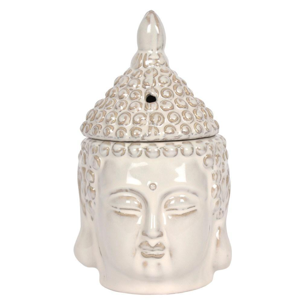 Off White Buddha Head Oil Burner Oil Burners Something Different