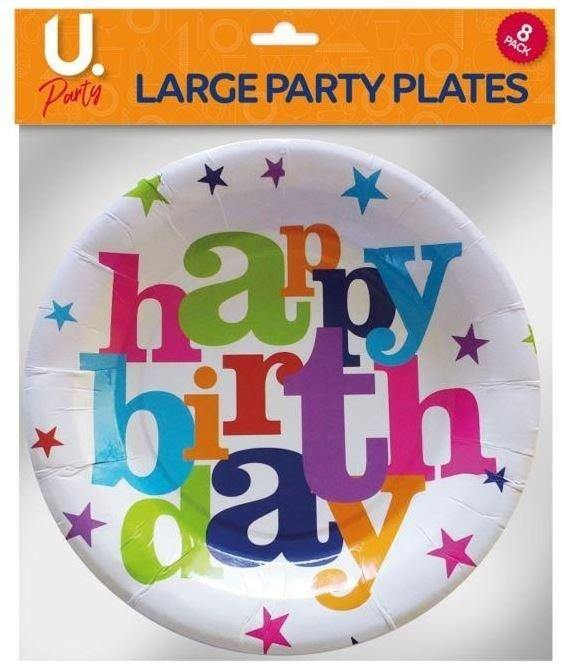 Party - Happy Birthday Plates - Large Party FoxyAvenue