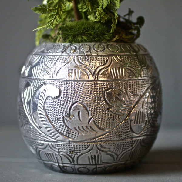 Pattern Pewter Planter HomeDecor London Garden