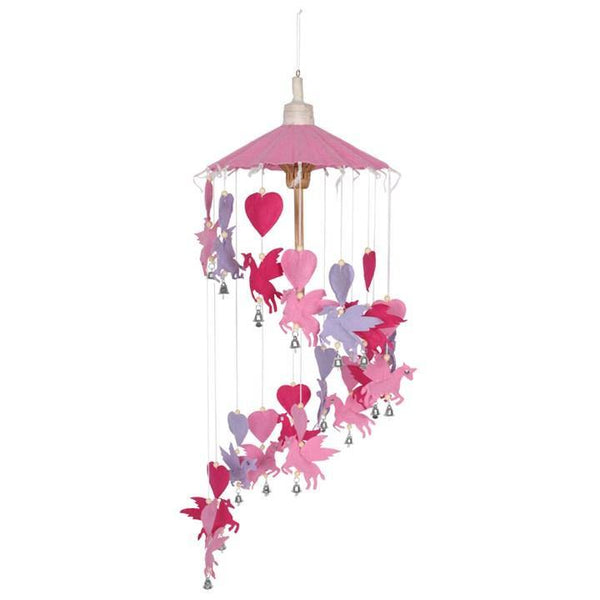 Pink and Purple Paper Mobile Hanging Mobiles Something Different