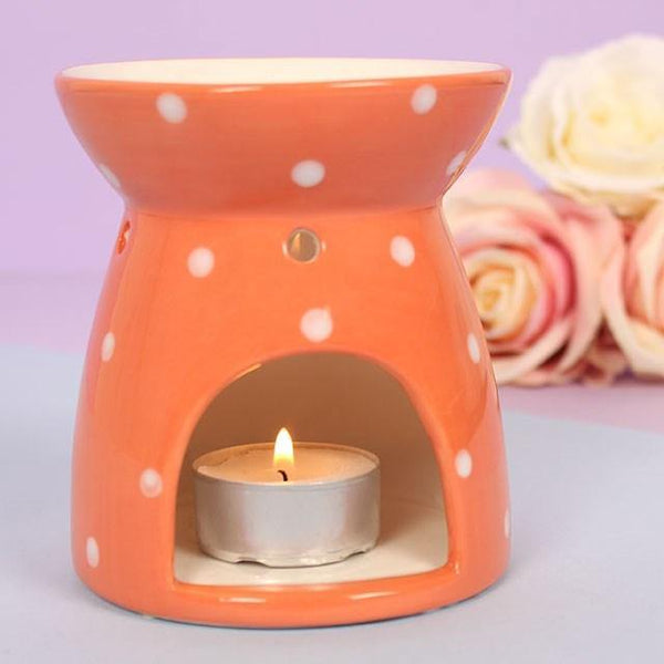 Polka Splodge Orange Oil Burner Oil Burners Something Different