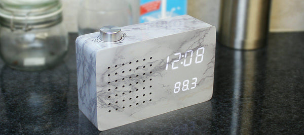 Radio Click Clock Clocks Gingko