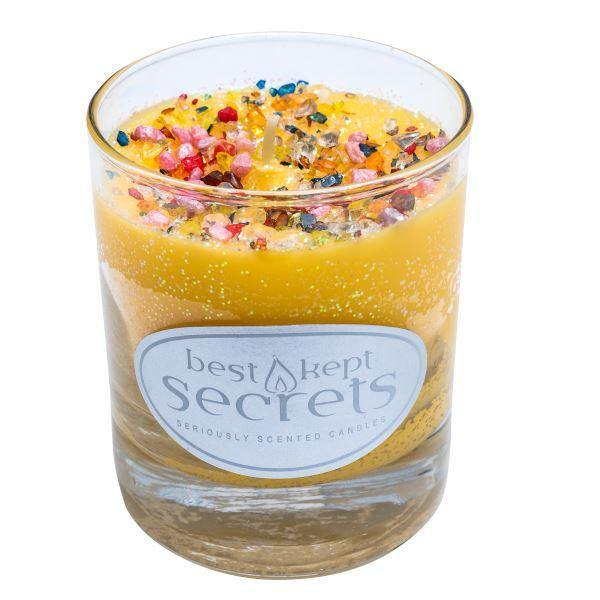 Seriously Scented Shimmering Glass Candle - Aromatic Zest Candles Best Kept Secrets