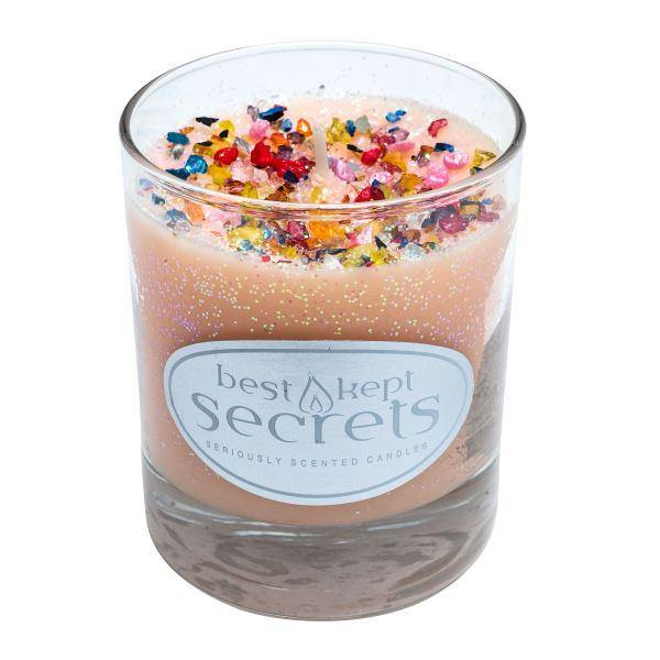 Seriously Scented Shimmering Glass Candle - Cotton Cream Candles Best Kept Secrets