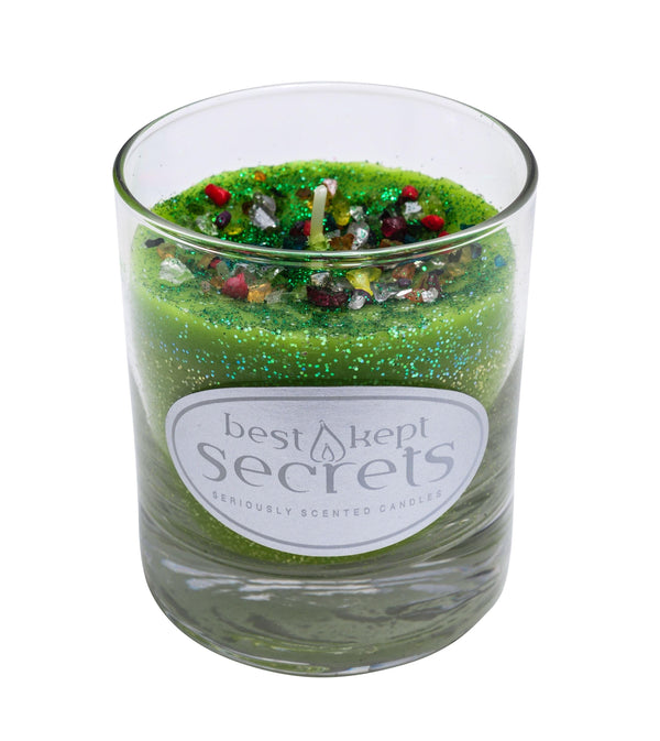 Seriously Scented Shimmering Glass Candle - Fresh Dew Candles Best Kept Secrets