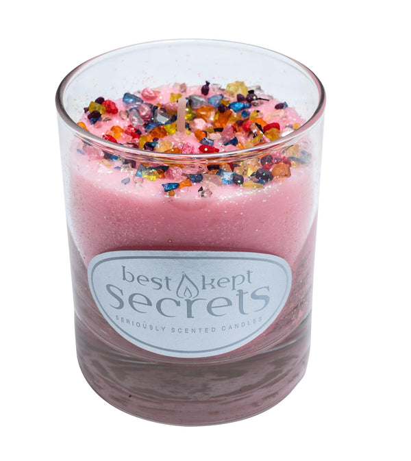 Seriously Scented Shimmering Glass Candle - Pink Crush Candles Best Kept Secrets