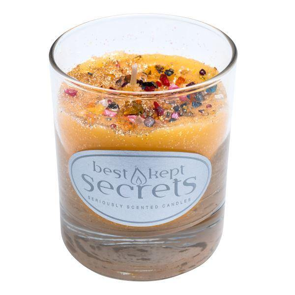 Seriously Scented Shimmering Glass Candle - Sunshine Glow Candles Best Kept Secrets