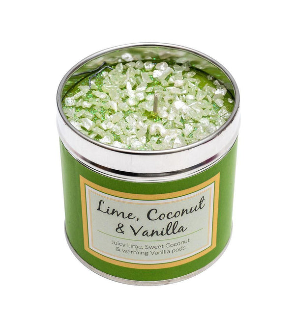 Seriously Scented Tin Candle - Lime, Coconut & Vanilla Candles Best Kept Secrets