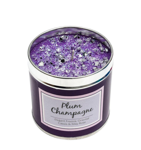 Seriously Scented Tin Candle - Plum Champagne Candles Best Kept Secrets