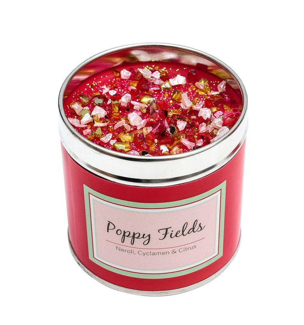 Seriously Scented Tin Candle - Poppy Fields Candles Best Kept Secrets