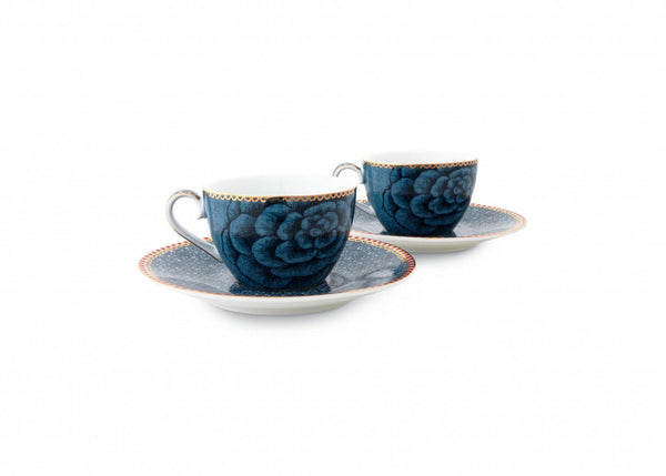 Set of 2 Spring to Life Expresso Cups and Saucers Infuser PiP Studio