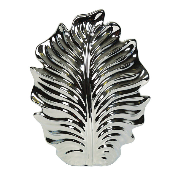 Silver Leaf Decorative Vase HomeDecor Straits