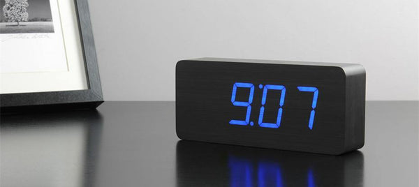 Slab Click Clock Clocks Gingko