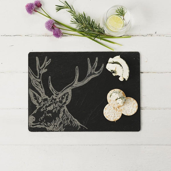 Slate Stag Cheese Board Tableware Selbrae House