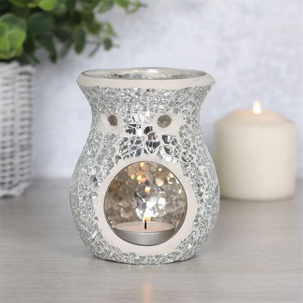 Small Silver Crackle Oil Burner Oil Burners Something Different