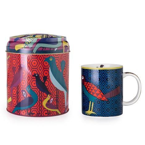 Tin Box With Mug Birds Of Paradise Images Dorient