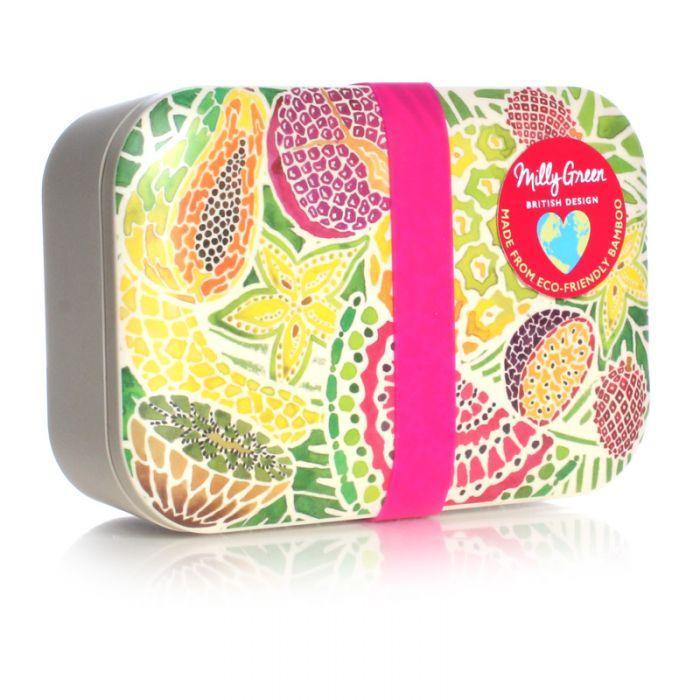 Tropical Fruit Eco Bamboo Fibre Lunch Box Lunchbox Milly Green