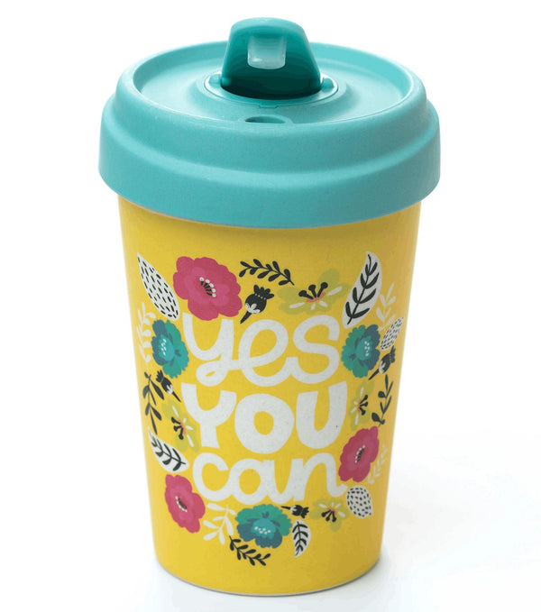 Yes You Can Bamboo Cup Bamboo Cup Blue Eyed Sun