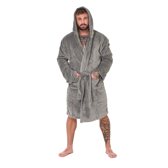 Grey Hooded Robe