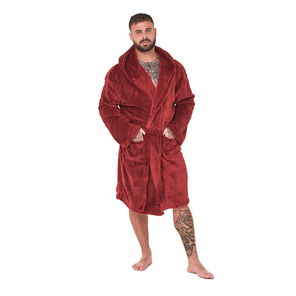 Burgundy Hooded Robe