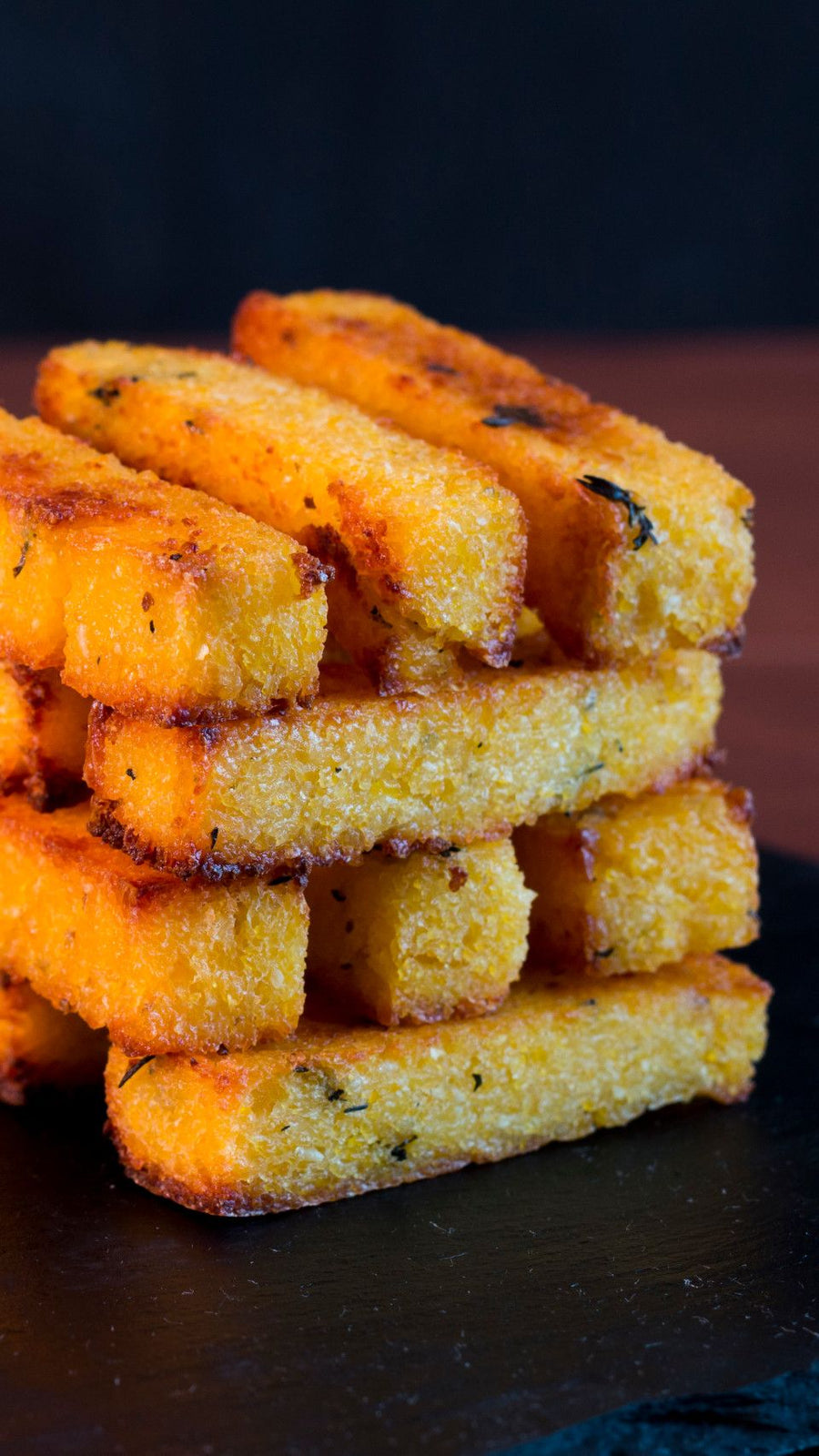 Polenta Chips - Frites de Polenta - Polenta Corn french fries