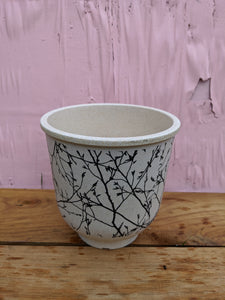 Large bird n twig pot