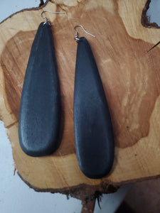 Wooden Oval Earring